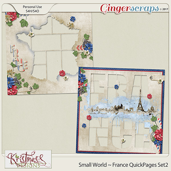 Small World ~ France QuickPages Set2