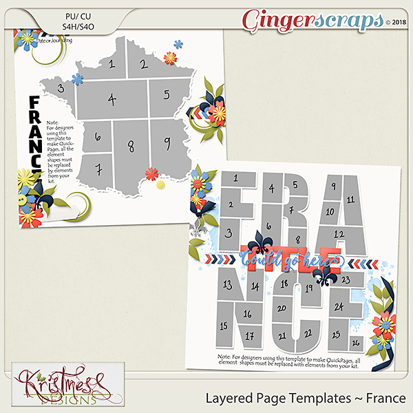 Layered Page Templates ~ France