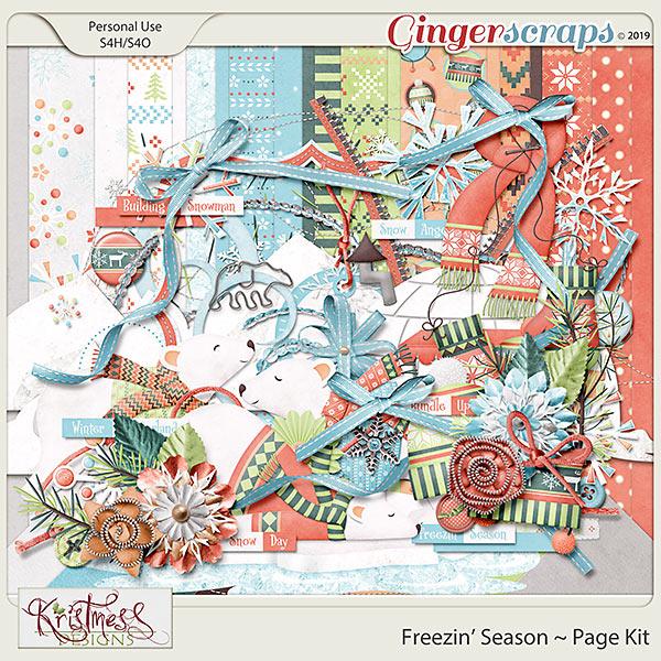 Freezin' Season Page Kit