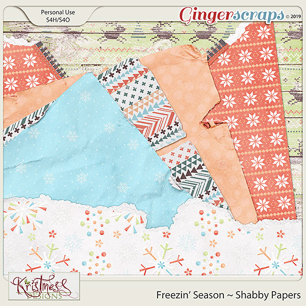 Freezin' Season Shabby Papers