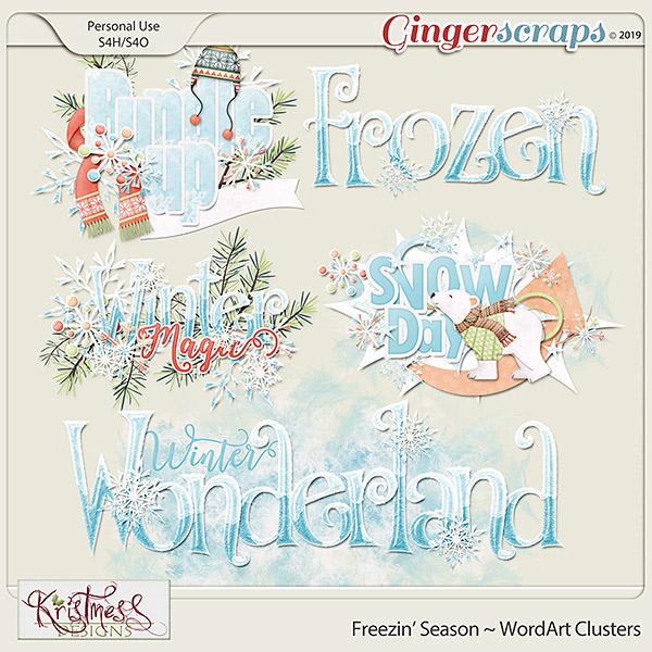 Freezin' Season WordArt Clusters