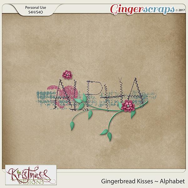 Gingerbread Kisses Alphabet