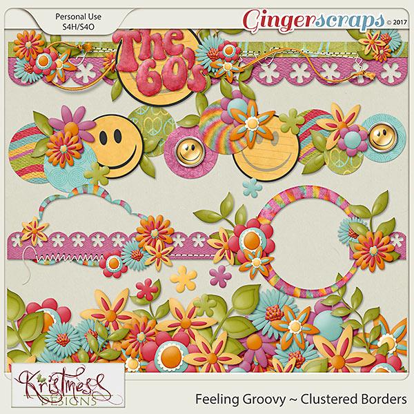 Feeling Groovy Clustered Borders