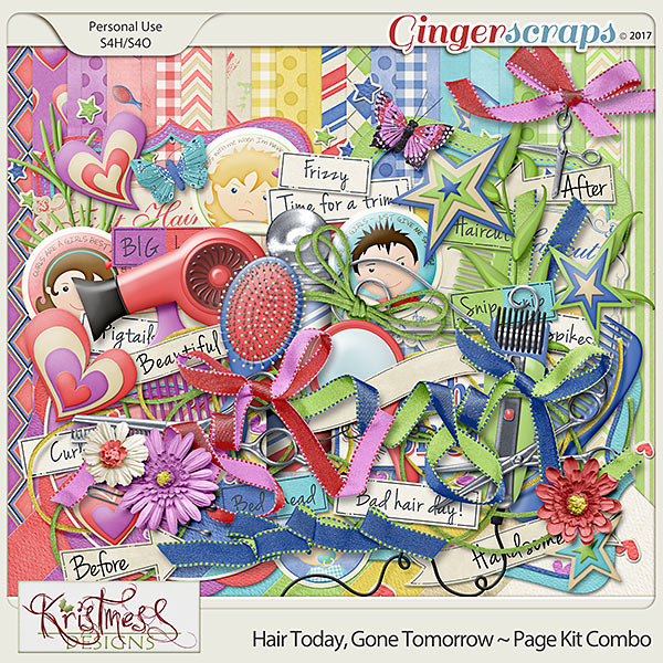 Hair Today, Gone Tomorrow ~ Page Kit Combo