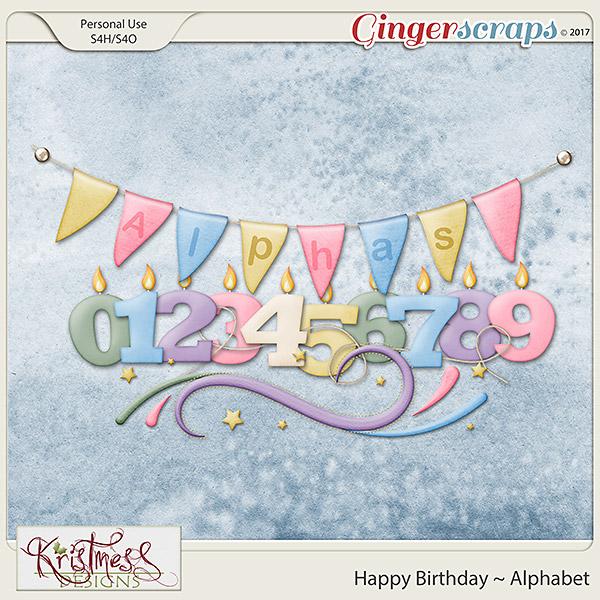 Happy Birthday Alphabet