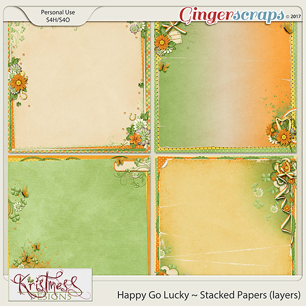 Happy Go Lucky Stacked Papers (layers)