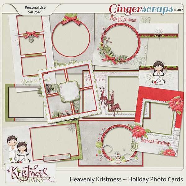 Heavenly Kristmess Holiday Photo Cards