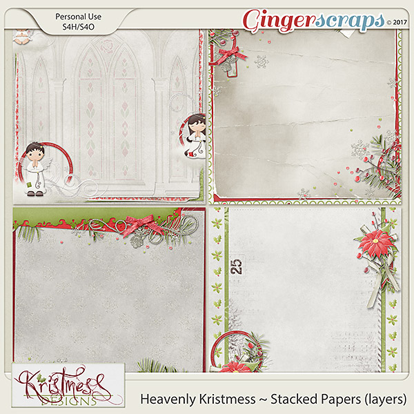 Heavenly Kristmess Stacked Papers (layers)