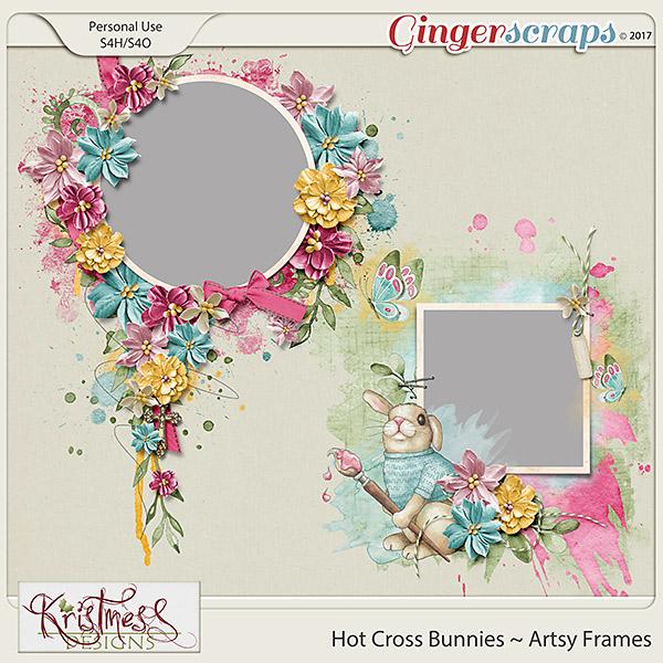Hot Cross Bunnies Artsy Frames
