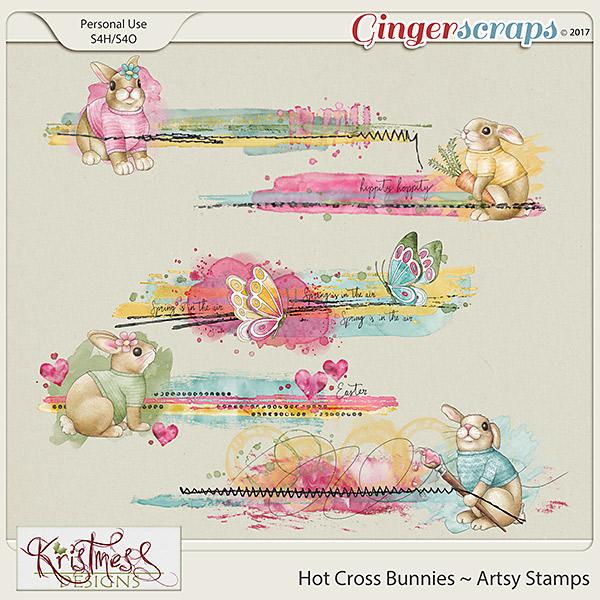 Hot Cross Bunnies Artsy Stamps