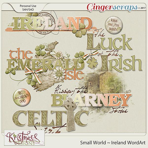 Small World ~ Ireland WordArt