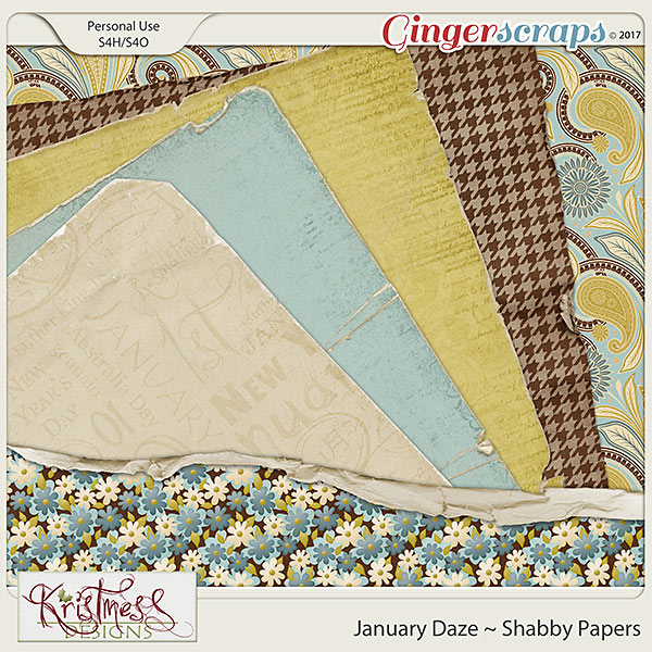 January Daze Shabby Papers