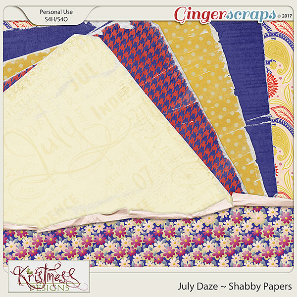 July Daze Shabby Papers