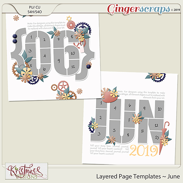 Layered Page Templates ~ June
