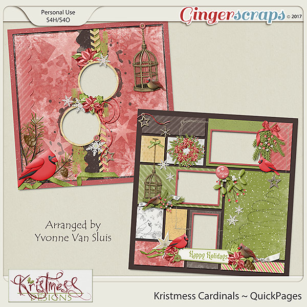 Kristmess Cardinals QuickPages
