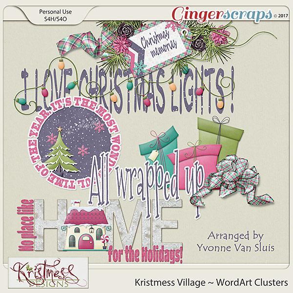 Kristmess Village WordArt