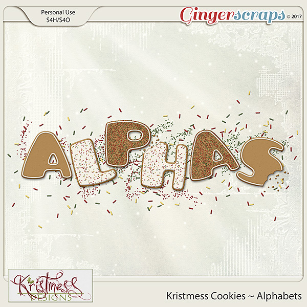 Kristmess Cookies Alphabets