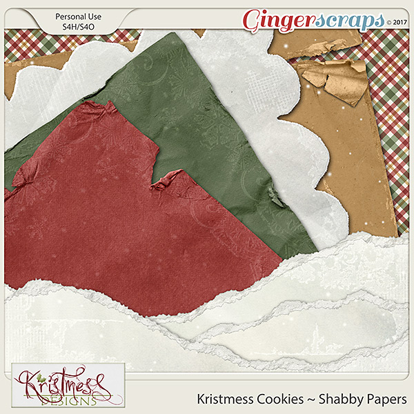 Kristmess Cookies Shabby Papers