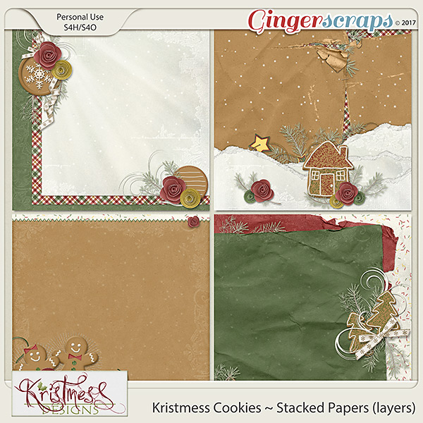 Kristmess Cookies Stacked Papers (layers)