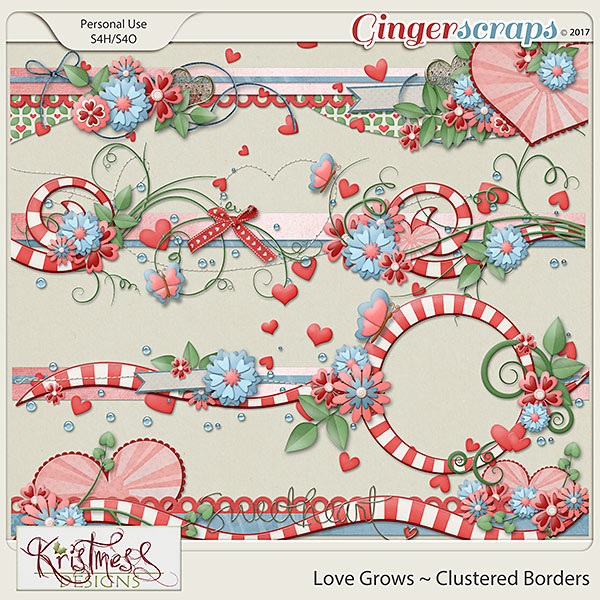 Love Grows Clustered Borders