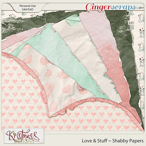 Love & Stuff Shabby Papers