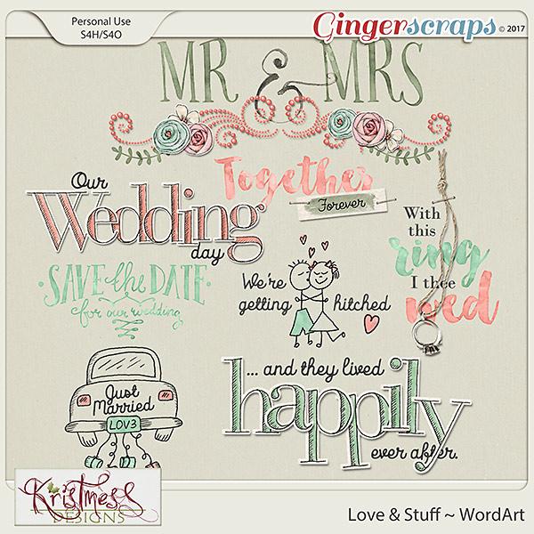 Love & Stuff WordArt