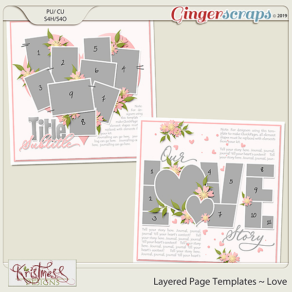 Layered Page Templates ~ Love
