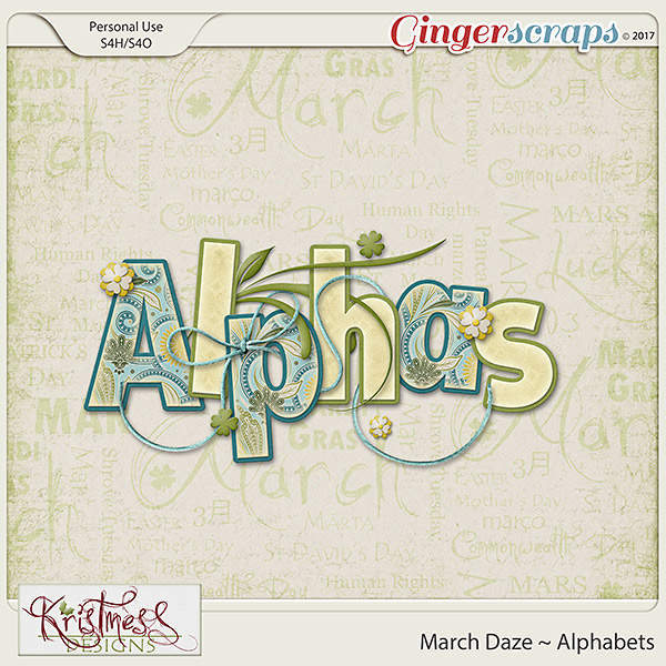March Daze Alphabets