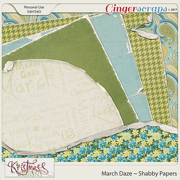March Daze Shabby Papers