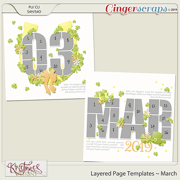 Layered Page Templates ~ March