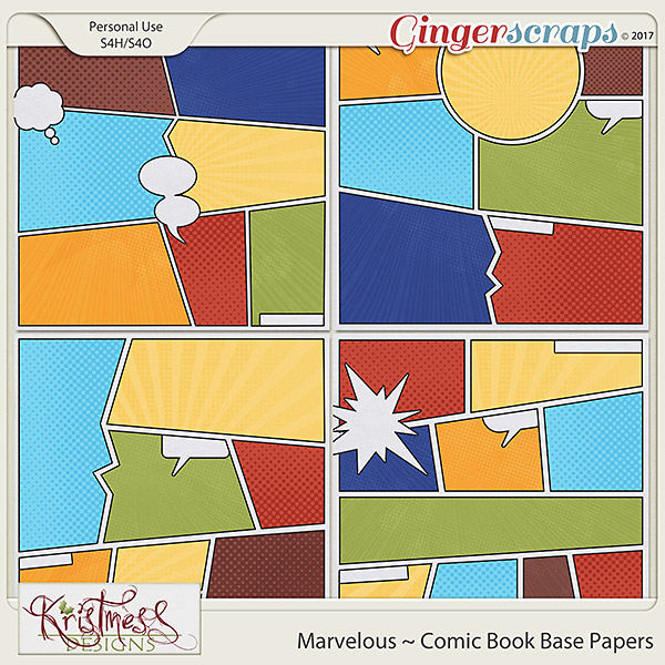 Marvelous Comic Book Base Papers