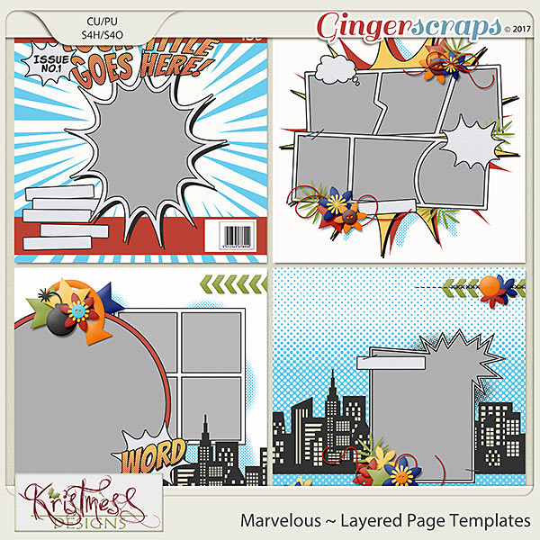 Marvelous Layered Page Templates