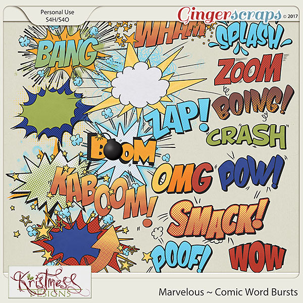 Marvelous Comic Word Bursts