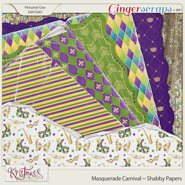 Masquerade Carnival Shabby Papers