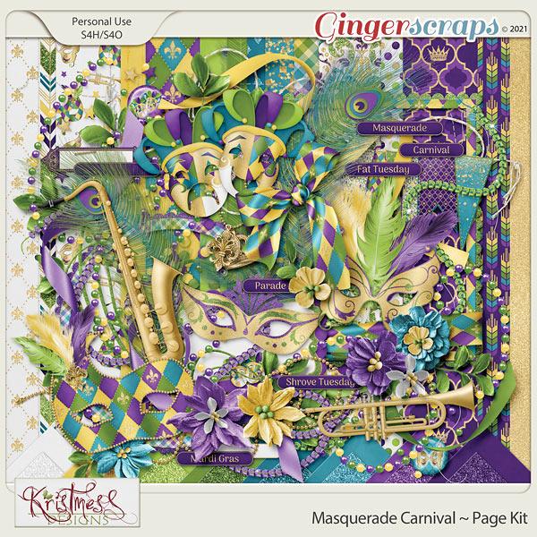 Masquerade Carnival Page Kit