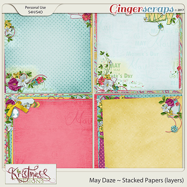 May Daze Stacked Papers (layers)