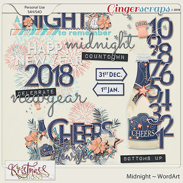 Midnight WordArt
