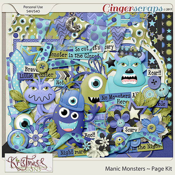 Manic Monsters Page Kit