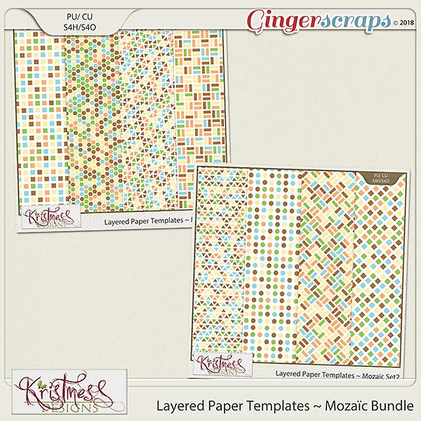 CU Layered Paper Templates ~ Mozaic Bundle