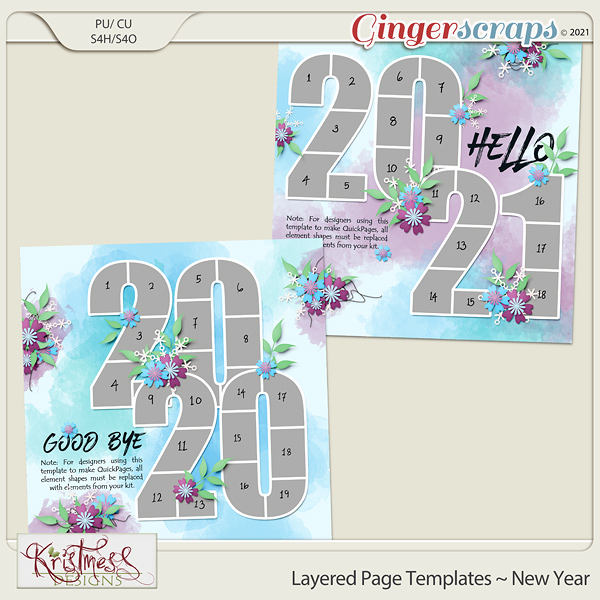 Layered Page Templates ~ New Year