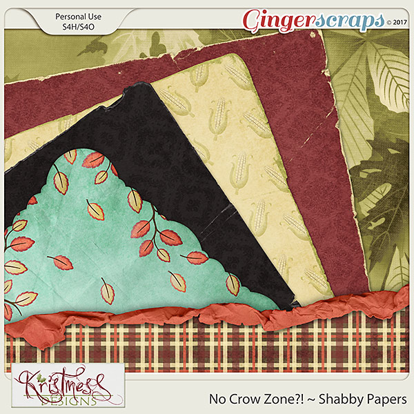 No Crow Zone?! Shabby Papers