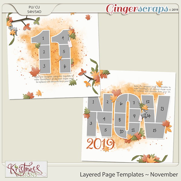 Layered Page Templates ~ November