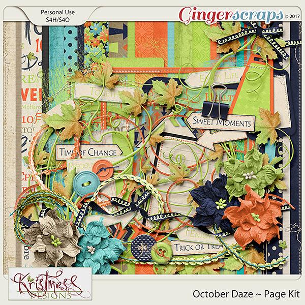 October Daze Page Kit