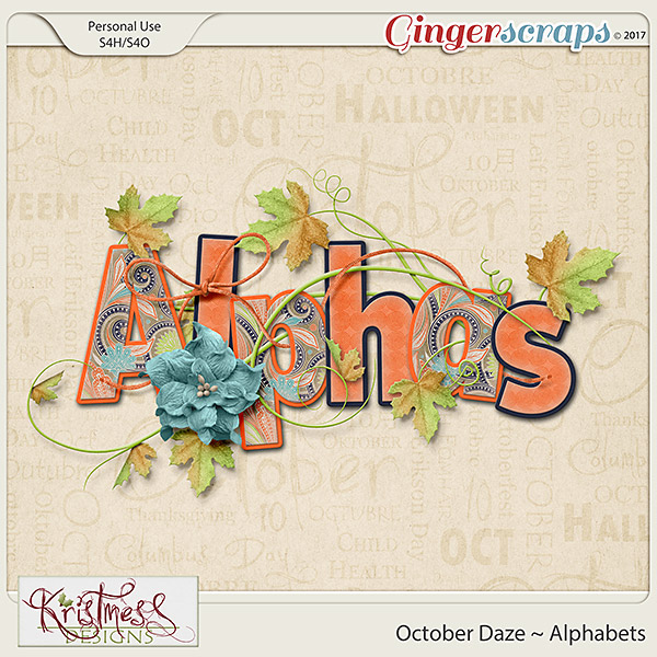 October Daze Alphabets