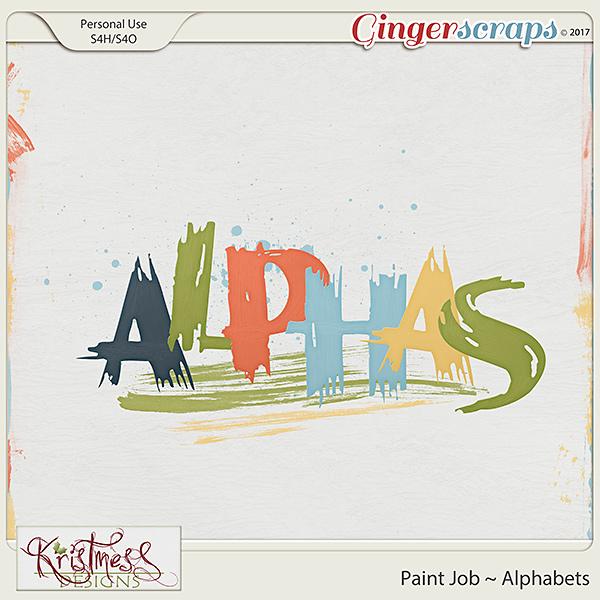 Paint Job Alphabets