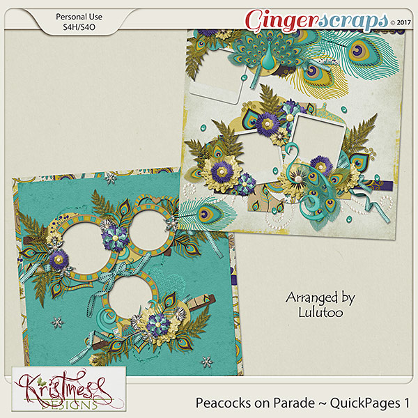 Peacocks on Parade QuickPages Set 1