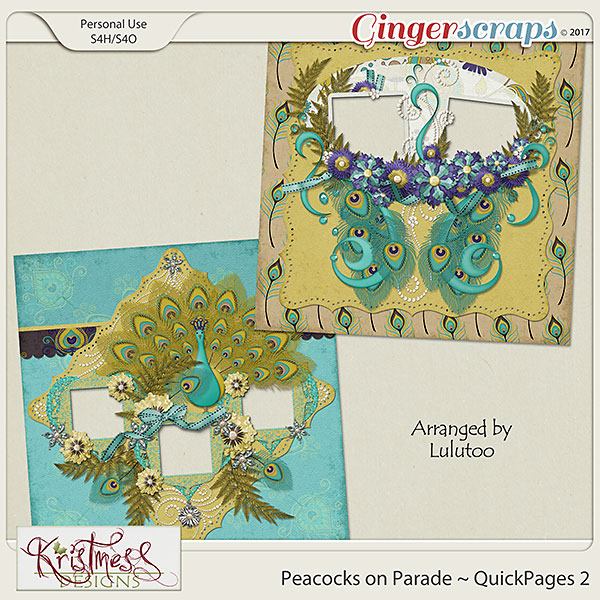 Peacocks on Parade QuickPages Set 2