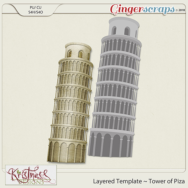 CU Tower of Piza Layered Template