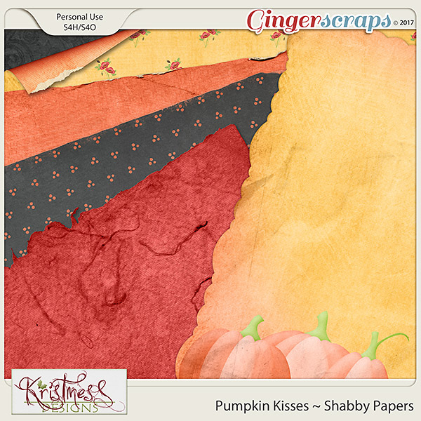 Pumpkin Kisses Shabby Papers