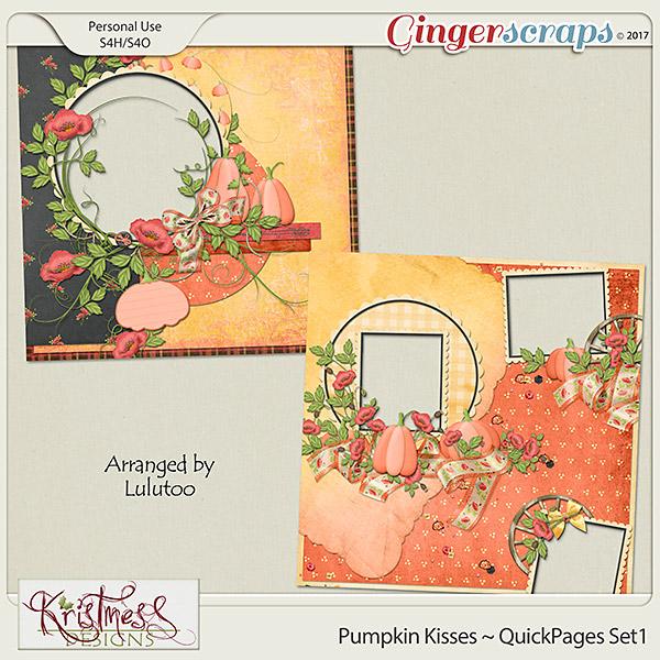 Pumpkin Kisses QuickPages Set1